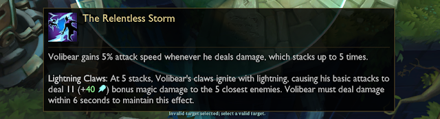 Patch Note 10.11 PBE : TENTATIVE BALANCE CHANGES & CONTINUED VOLIBEAR TESTING 4