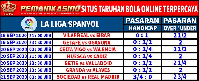 Pasaran Liga Spanyol Pekan Ke 2