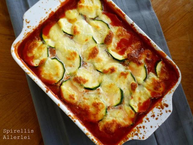 Lasagne mit Zucchini und Hackfleisch