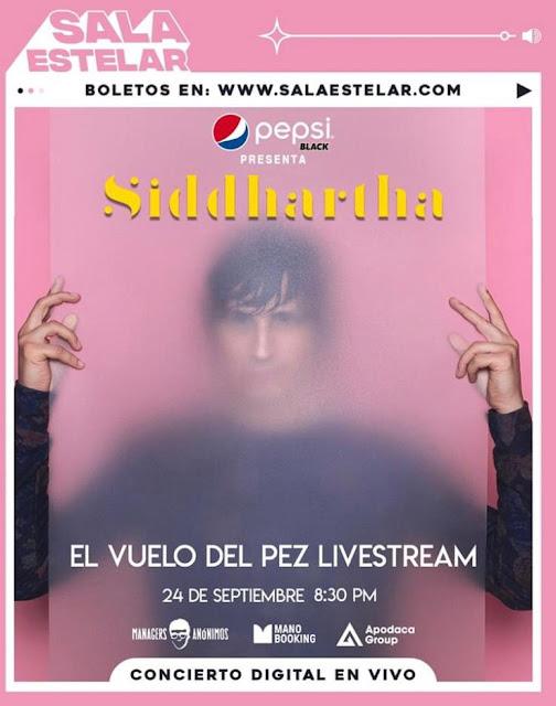 """Siddhartha presentará """"El Vuevlo del Pez"""" cía streaming por Sala Estelar"""