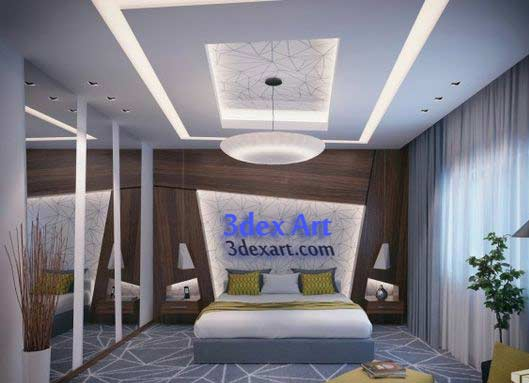 New false ceiling designs ideas for bedroom 2018 with led for Bedroom designs with attached bathroom and dressing room