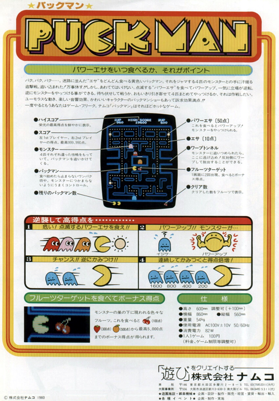 Pac-Man advertising (Namco) back
