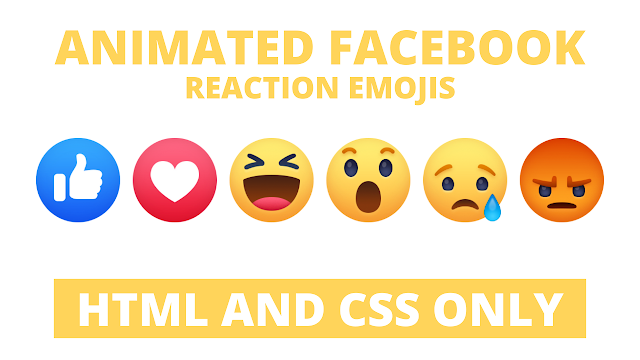 Facebook Wow Reaction Emoji in HTML and CSS