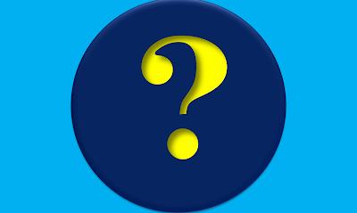 A imagem de fundo azul e ao centro o ponto de interrogação(?) no idioma português serve para perguntar.