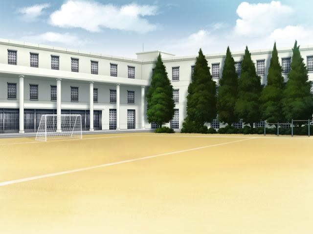 School Soccer Field (Anime Background)