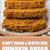 Fluffy Vegan & Gluten Free Pumpkin Bread