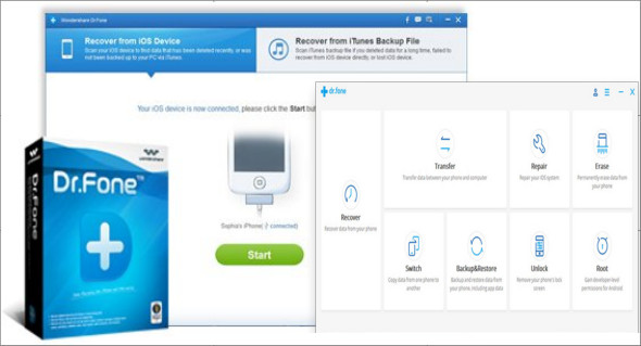 Wondershare Dr.Fone toolkit for iOS and Android 10.5 + Crack