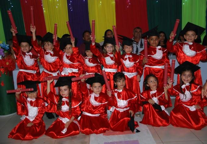 Formatura do ABC do Centro de Educacão Infantil Antonia Pereira Silva de São Roberto/MA