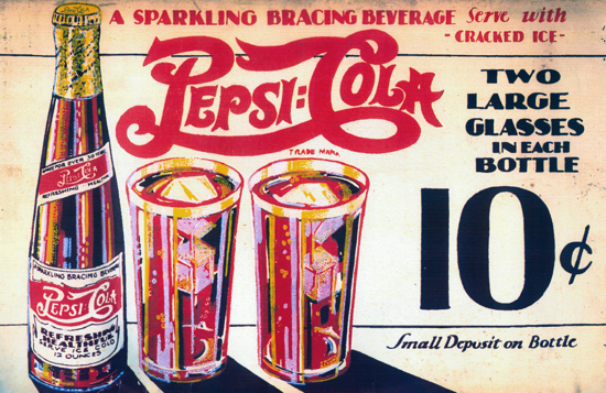 Pepsi-Cola 12-ounce bottle