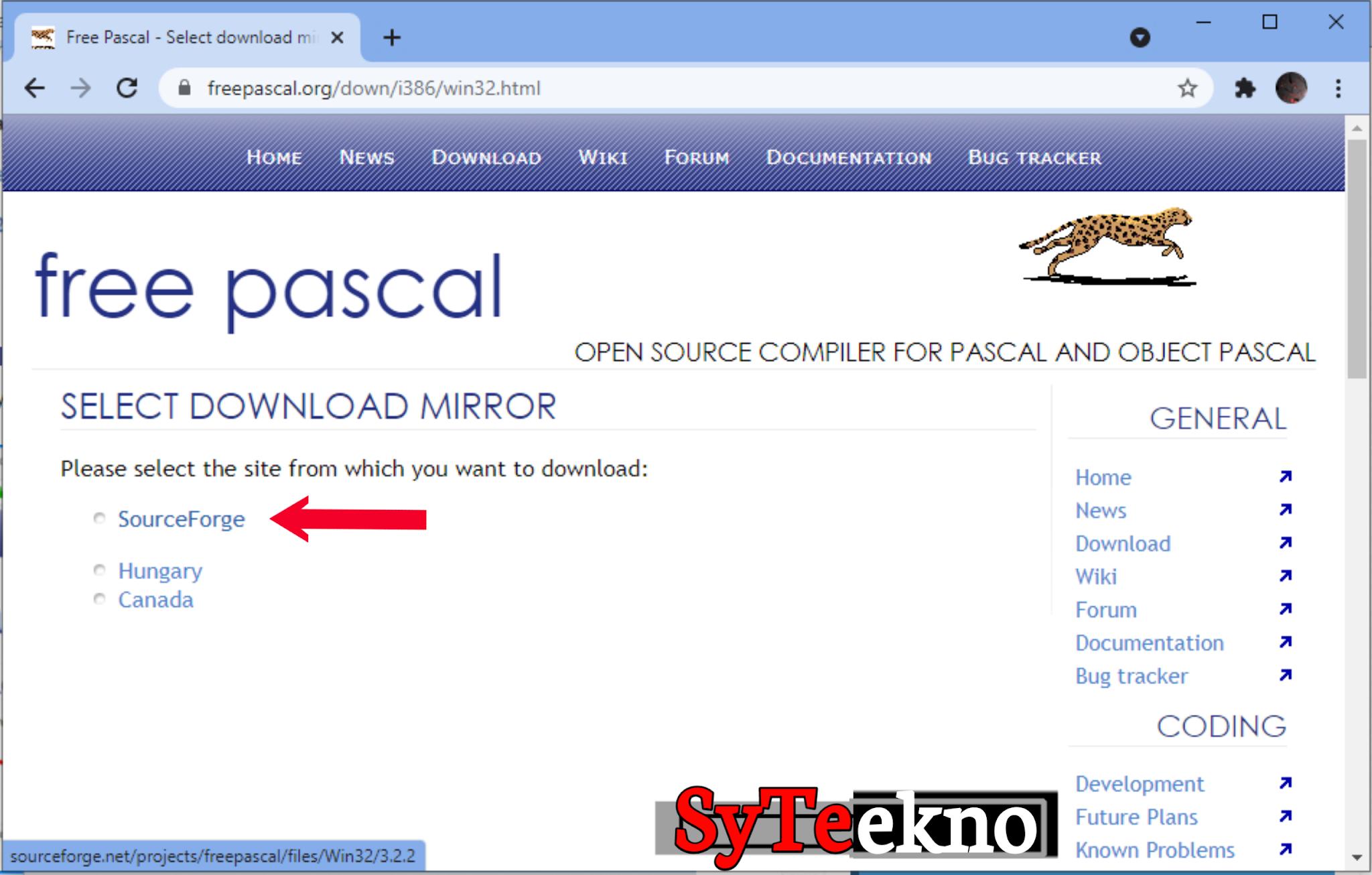 Mendownload Pascal melalui web bag 3 syteekno
