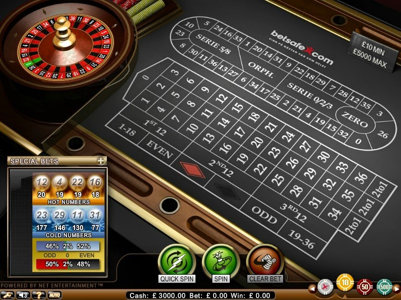 Betsafe Roulette Screen