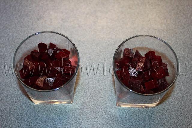 рецепт салата с семгой и свеклой с пошаговыми фото