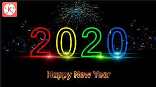 2020 New Year Light Color Png