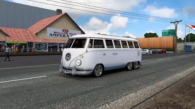 Mod Mobil VW Combi ETS2 1.41 Convoy