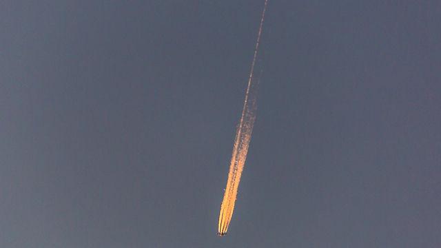Bola de fuego, que resultó ser un avión de transporte militar de Estados Unidos (Foto: Orna Maltinsky)