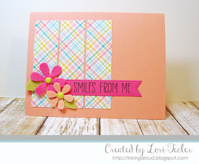 Smiles from Me card-designed by Lori Tecler/Inking Aloud-stamps from Lil' Inker Designs