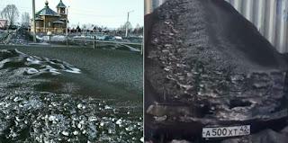 FOTOS: Cae nieve negra y toxica en Rusia.