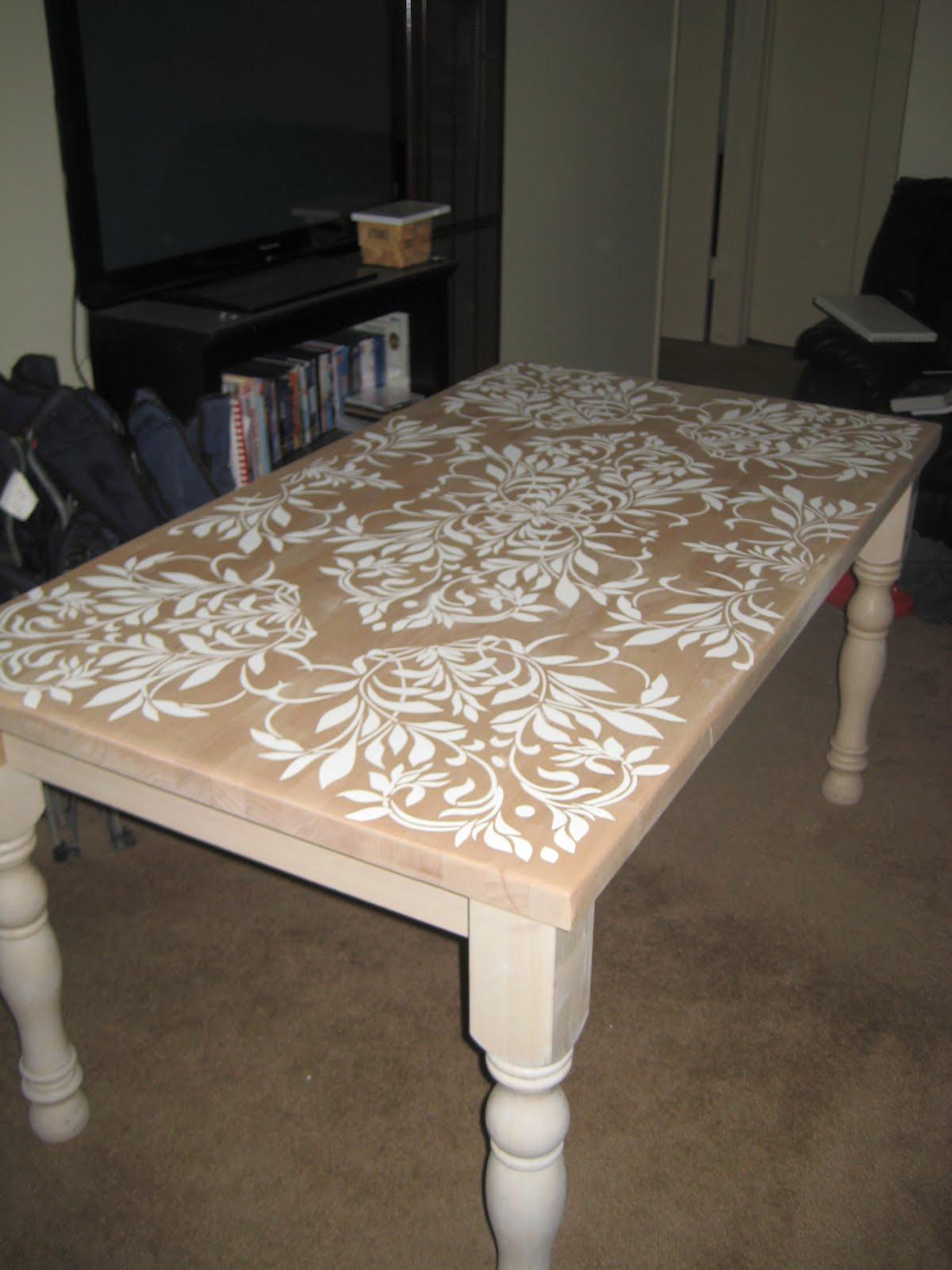 these days newlyawesomestencileddiy kitchen table