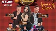 Edson Lima, Bastista Lima e Simara Pires - Arraiá dos Amigos - 20 Poucos Anos Live - Junho 2020