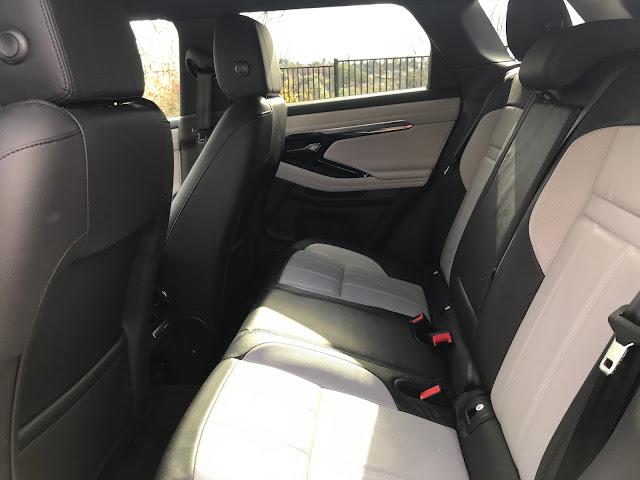 Interior view of 2020 Range Rover Evoque