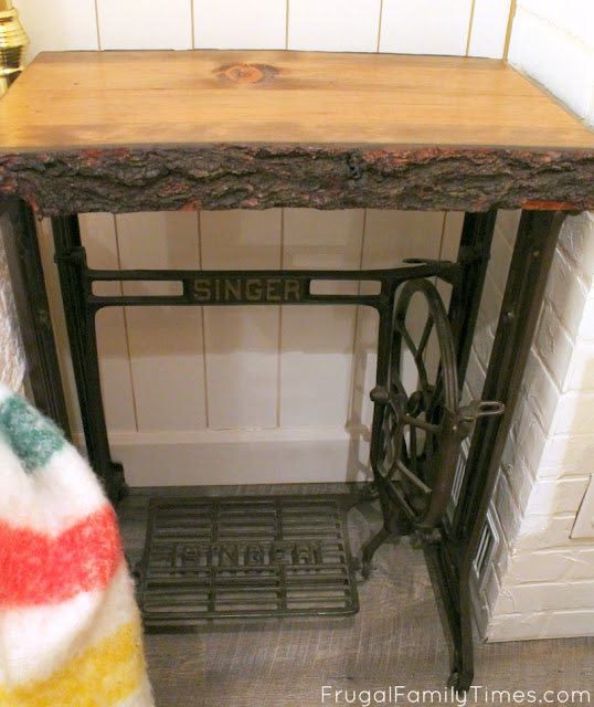 repurpose antique treadle table