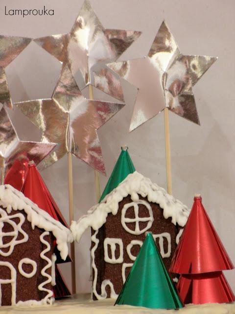 Χριστουγεννιάτικη διακόσμηση τούρτας.