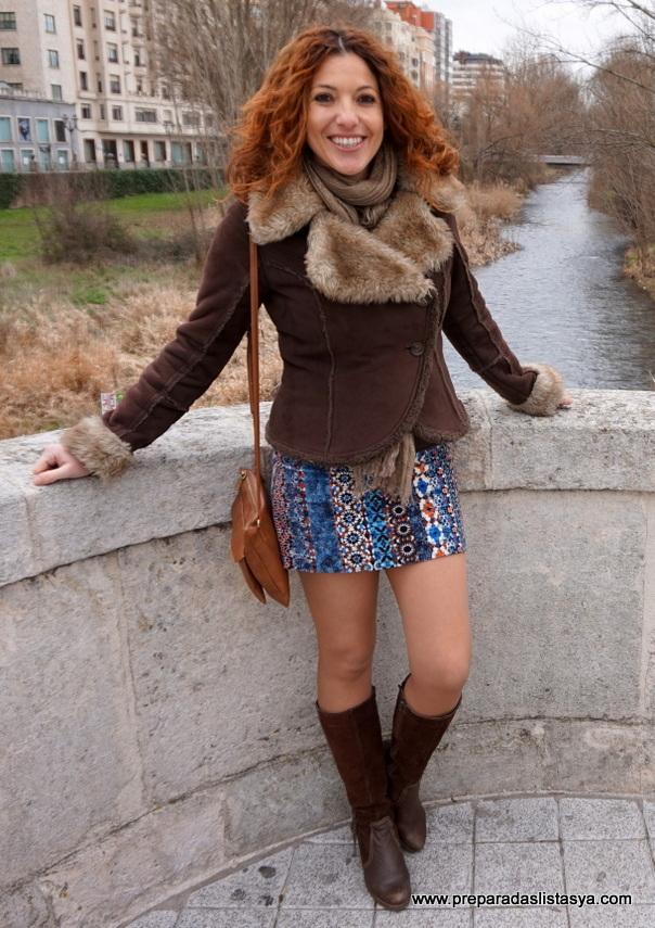Minifalda étnica invierno