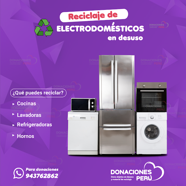 Reciclaje de electrodomésticos en desuso