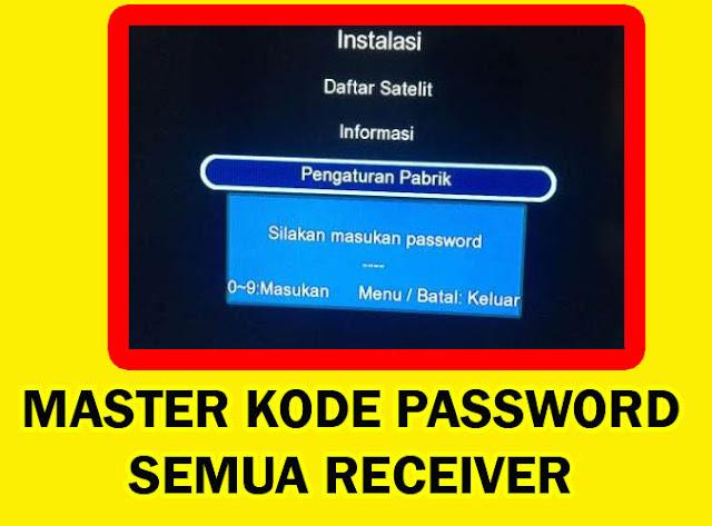 Lupa Kode Password Receiver Matrix Burger S2 Sinema Venus Tanaka Goldsat K-Vision LG Sat Yang dikunci Teknisi Parabola Lain, Berikut Master Kode Receiver terbaru update Juni 2020