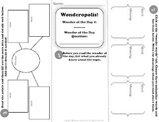 Upper Grades Are Awesome: FREEBIE! Wonderopolis Trifold