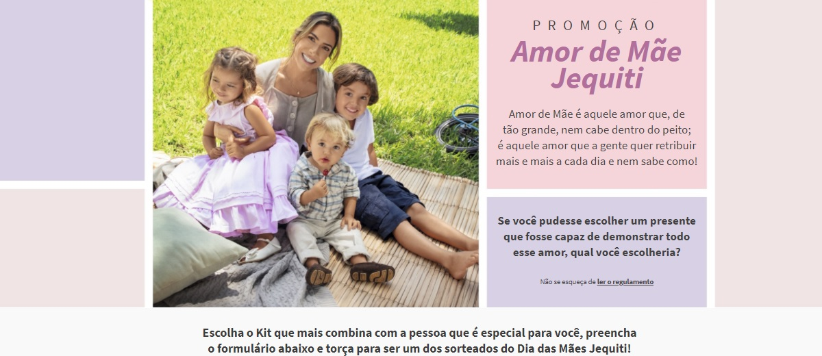 Kits Grátis Jequiti Dia das Mães 2021 Promoção