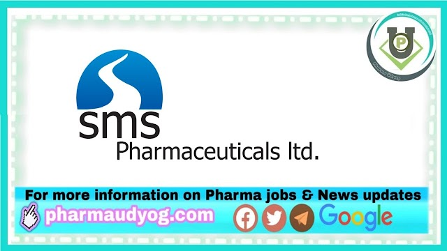 SMS Pharmaceuticals | Walk-in for Production/QC/QA/ETP/EHS on 28th to 30th Dec 2020