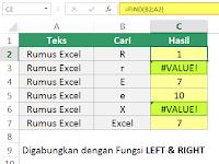 Cara Menggunakan Fungsi FIND dan SEARCH di Excel
