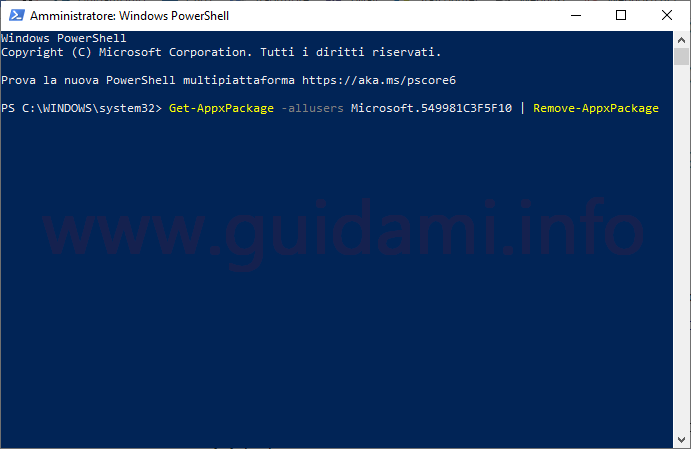 Windows 10 Windows PowerShell