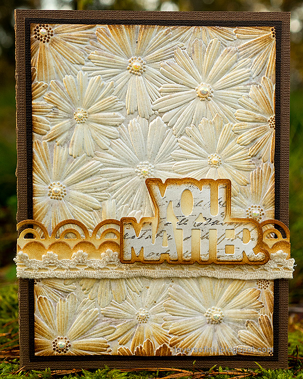 Layers of ink - Shimmery Dry Embossed Flowers Card Tutorial by Anna-Karin Evaldsson.