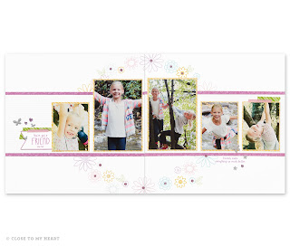 CTMH Penelope Scrapbook Layouts