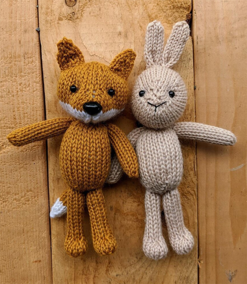 Fox & Bunny - Free knitting Pattern
