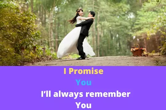 Talk to me You will be with me forever and ever! Happy Promise Day