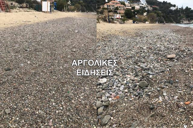 """""""Ψιλή Άμμος"""": Εξαφανίστηκε η άμμος από την φημισμένη παραλία του Τολού"""