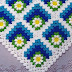 Free blanket pattern with crocheted squares