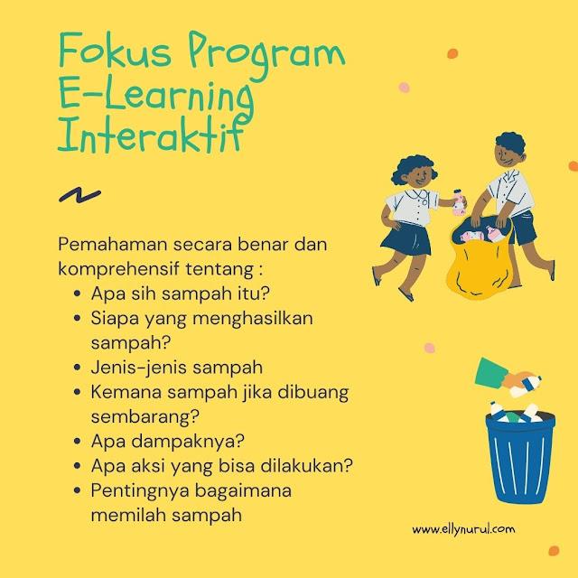 fokus program e-learning sampahku tanggung jawabku