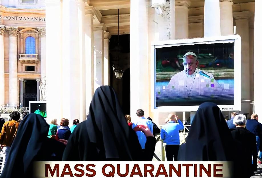 Pope Francis live streaming the Sunday prayer because of coronavirus.