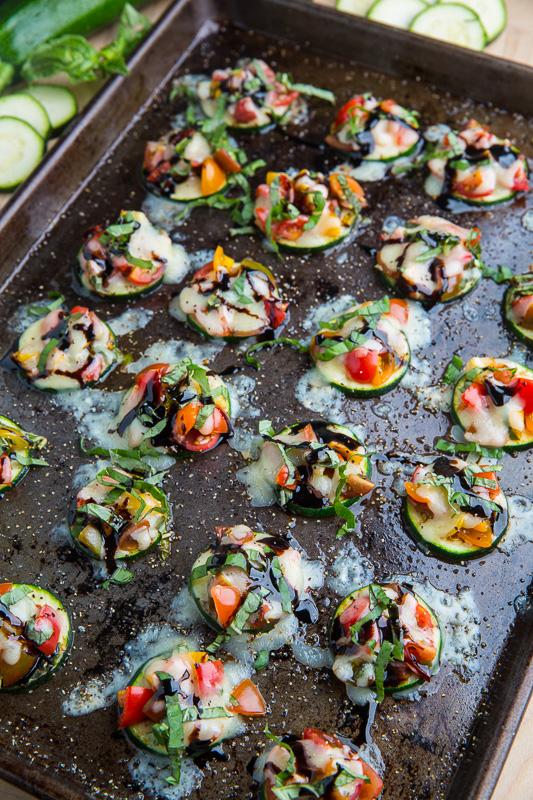 Zucchini Bruschetta Bites