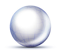 Açık mavi renkte yarı saydam bir küre