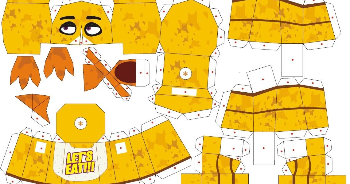 Divirtete con este interactivo Papercraft de Bonnie Original de