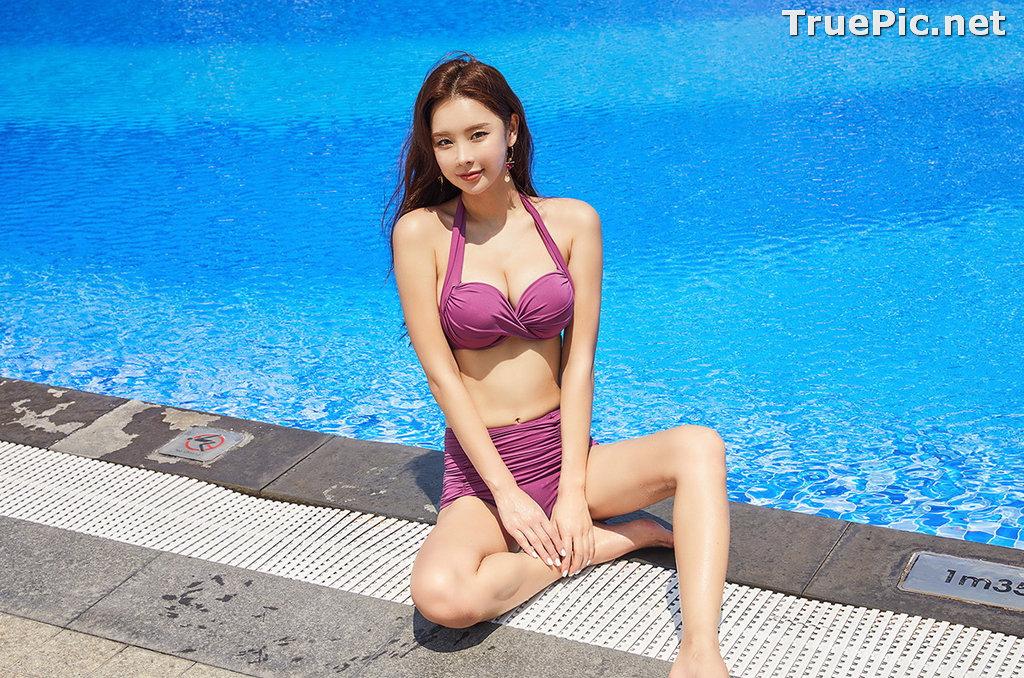 Image Park Da Hyun - Korean Fashion Model - RoseMellow Purple Bikini - TruePic.net - Picture-1