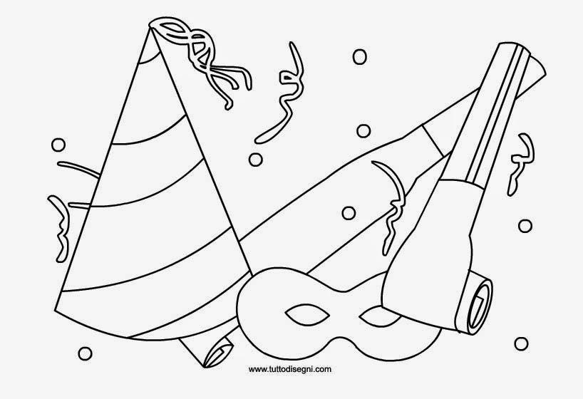 disegni di carnevale da stampare e colorare