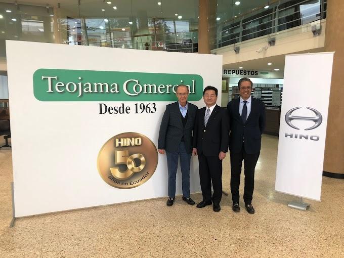 Teojama Comercial celebra 50 años de relación comercial con Hino Motors