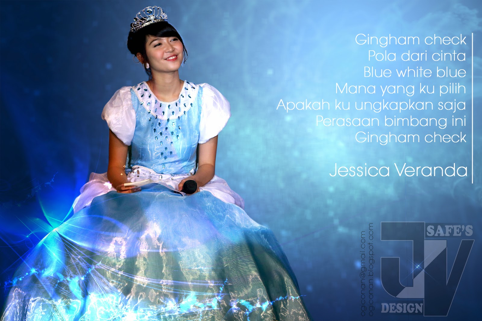Veranda gingham check foto jkt48 Edit