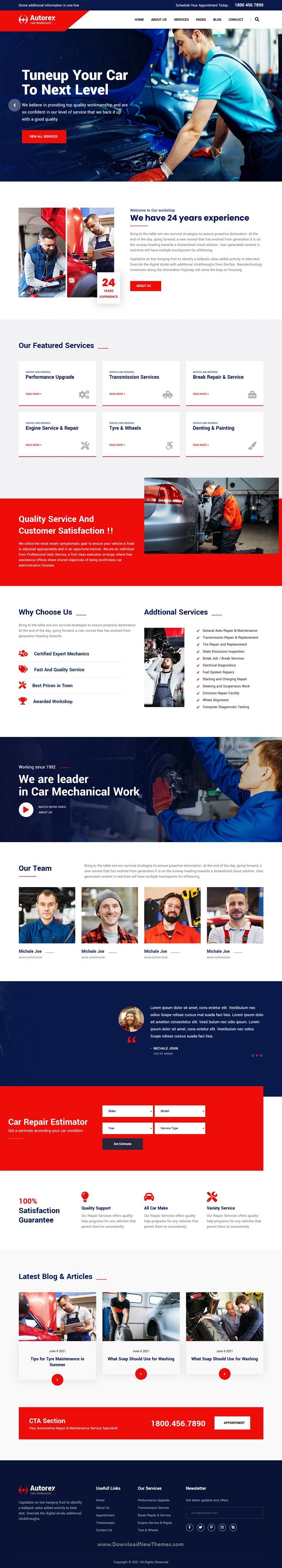 Car Service & Workshop HubSpot Theme